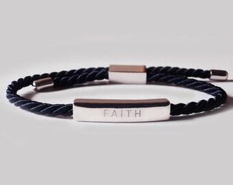 faith, faith bracelet, reminder bracelet, wish bracelet, friendship bracelet, silk bracelet, dainty bracelet, adjustable bracelet, bracelet