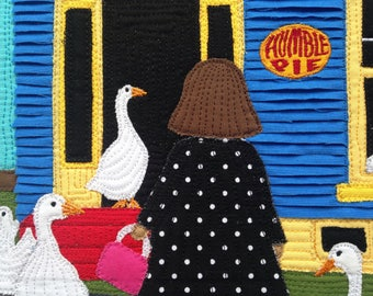 Humble Pie close up, greeting card, 5x7, stella buys local, sullivan pond geese, east coast artist