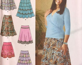 Skirt Sewing Pattern Simplicity 4283 Khaliah Ali Collection Misses' Skirts size 10-18, waist 25-32 inches Uncut