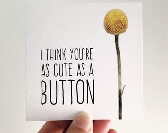 Cute as a Button Mini Card {BILLY BUTTONS}