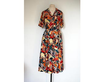 80s Crazy Print Co-ord, Size 12