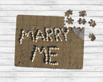 Will you Marry Me Pebbles Proposal Jigsaw | Engagement | Surprise Message | Available worldwide