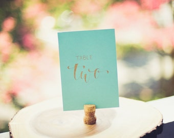 Table Card (Blue/Gold)