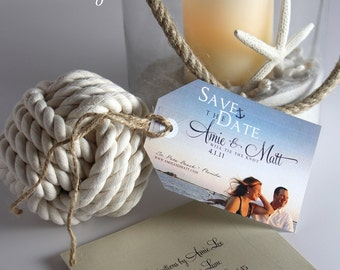 Save The Date Luggage Tags with Photos