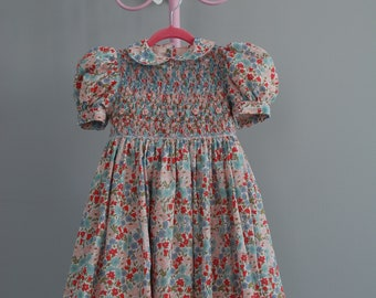 Poppy Field Liberty Fabric Smocked Dress