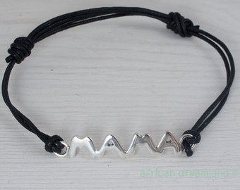 Sterling Silver Mum Charm Mama Bracelet  Customizable Sterling Silver 935 in a kraft gift box with an Extra Free Gift.