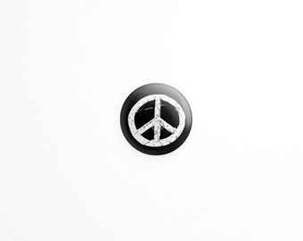 Peace Button - Peace Sign Button - BOHO Button -  60s - Button - Accessories - political button