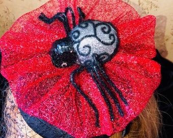 Halloween Spiderweb Fascinator