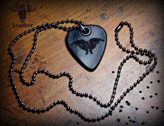 Ryan Weaver Leather Guitar pick necklace.