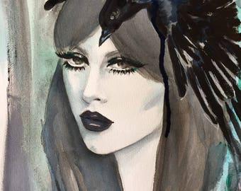Original Painting Witch Inspiration
