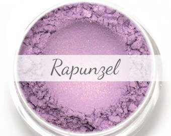 "Lilac with Peachy Pink Duochrome Eyeshadow Sample - ""Rapunzel"" - Vegan Mineral Eyeshadow Net Wt .40g"