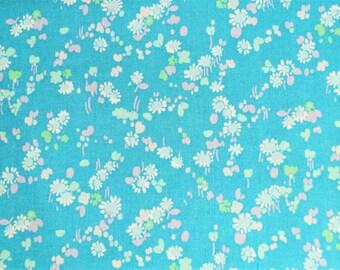 Coupon 0,90 mètre, tissu coton Dorothy blue Liberty, Life style, laize 112 cm