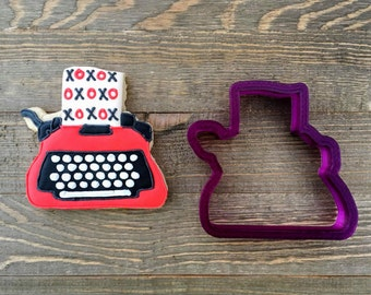 Typewriter or Adding Machine Cookie Cutter and Fondant Cutter and Clay Cutter