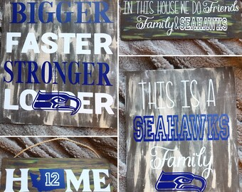 Seahawks Football Wooden Signs & Home Decor - Christmas Gifts Under 25
