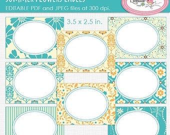 50%OFF Editable PDF cards, editable labels, printable cards, buffet labels, place cards, candy buffet tag, party supplies, P69