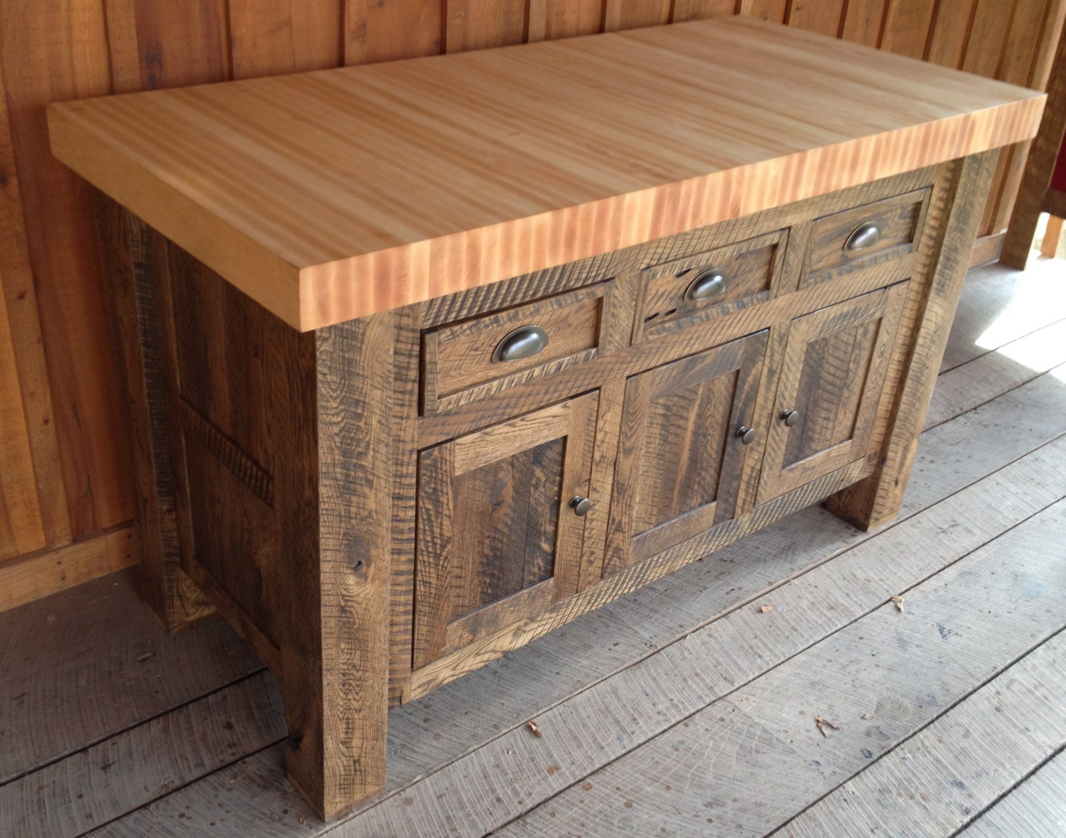 Oak butcher block kitchen island zoom workwithnaturefo