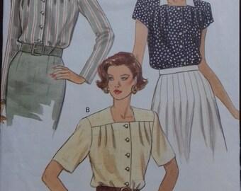 Vogue Very Easy 8355 (Vintage 1992) Misses Blouse size 14-18