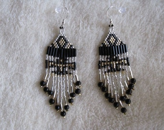 Hand beaded Eagle earrings