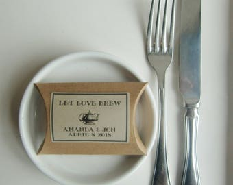 Rustic Wedding Favor Boxes-Tea Favors-Coffee Favors-Favor Boxes-LET LOVE BREW-Rustic Wedding-Personalized Favors-Wedding Boxes-Wedding Ideas