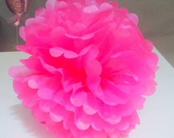 12 inch tissue pom pom Birthday party decoration, baby shower, bridal shower, reveal baby shower, color choices
