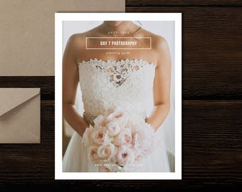 SALE!! Wedding Photography Magazine Template - New Client Studio Welcome Packet - Digital Wedding Photographer Brochure - Bridal Guide