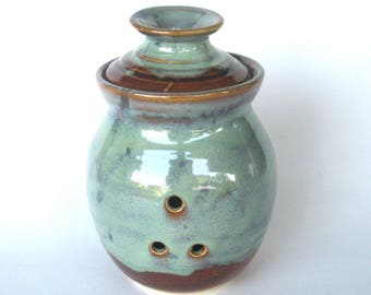Garlic Keeper Storage Jar - Ponderosa Glaze