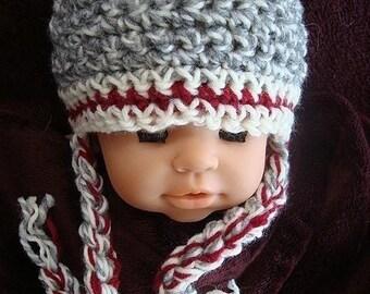 Sock Monkey Hat Crochet Pattern PDF 166  Sock Monkey Inspired Hat Crochet Pattern sizes Newborn to Adult