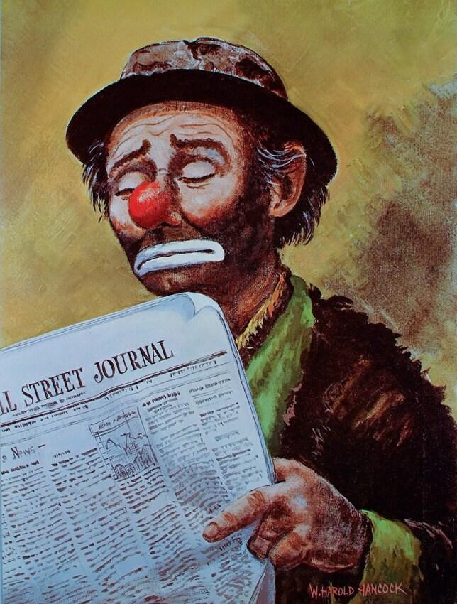 CLOWN POSTER Clowns Wall Street Art Clown Circus