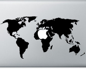 Stickers macbook etsy sticker macbook worldmap decal for macbook air pro retina 11 12 13 15 gumiabroncs Choice Image