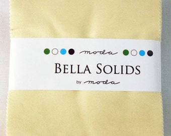 Moda  Bella Solids SNOW Charm Pack- (42) 5 inch