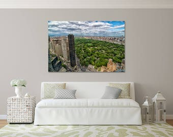 Beautiful Gallery Wrapped Canvas New York City Central Park Photograph