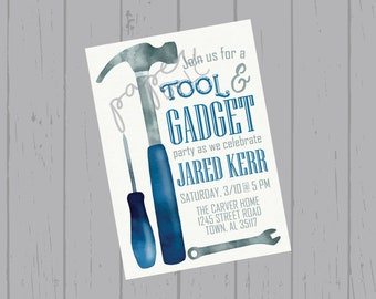 Tool & Gadget Party Customized Printable Invitation