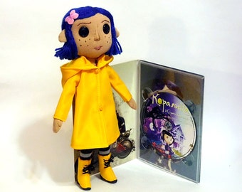 Coraline doll small size version with the ability to wash