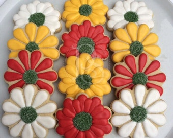 Assorted Flower Cookies