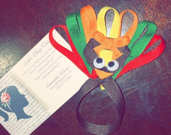 Thanksgiving Turkey Hair Bow