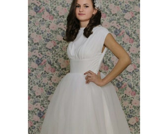 50's vintage wedding dress tailor size XS to XXL see measurements