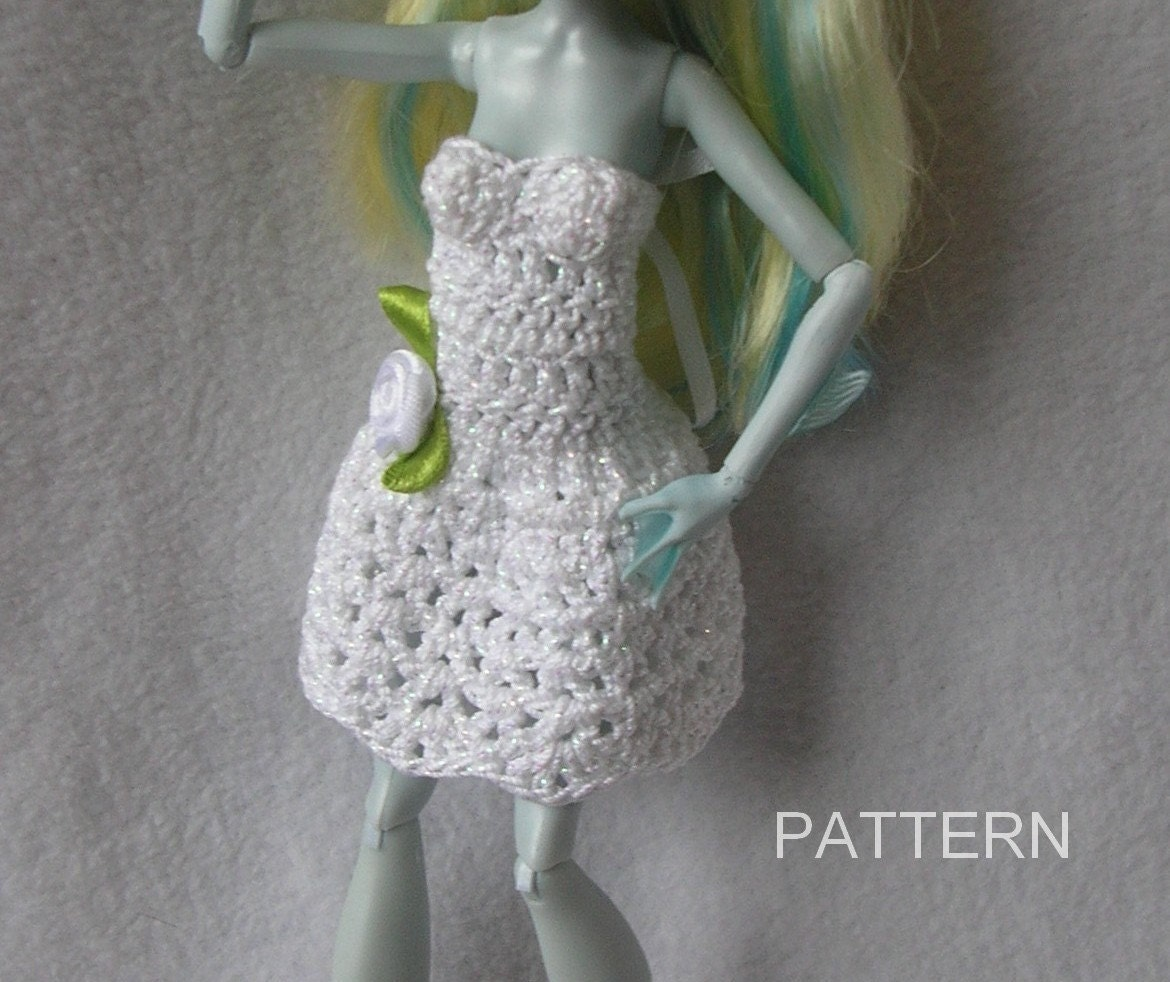 Monster High Doll Crochet Dress Pattern Ever After Barbie Doll