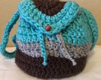Bolso mochila a crochet