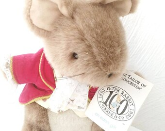 Tailor of Gloucester Plush Beatrix Potter Stuffed Animal 100 Year Anniversary Eden WITH TAGS // Baby Toddler Gift // Classic Childrens Story