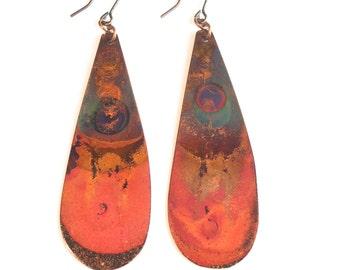 Heat Patina Earrings