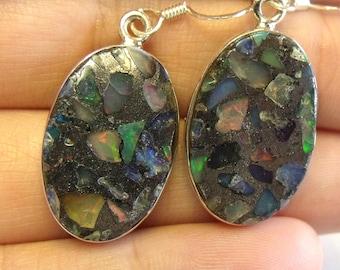 Opal Composit • solid sterling SILVER • Earrings