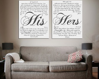 Wedding Vows Framed On Canvas, A Personalized Wedding Vows Wall Art, Your Vows Print On Canvas