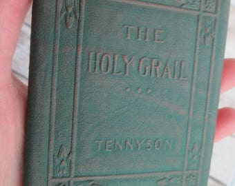 THE HOLY GRAIL by Alfred Lord Tennyson Miniature Book Little Leather Library 1920s Antique Vintage