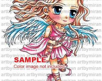 Digital Stamp -Sweet Saraleigh(#348), Digi Stamp, Coloring page, Printable Line art for Card and Craft Supply