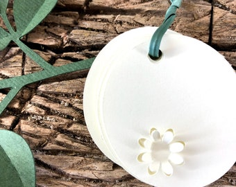 50 pz tags with flower