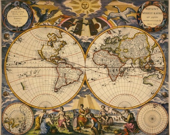 Historical maps, Antique world map, Map, Old world map, 145
