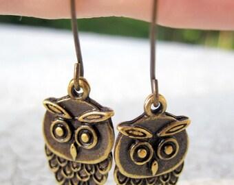 Cute Owl Earrings, Bird Earrings - CLEARANCE SALE