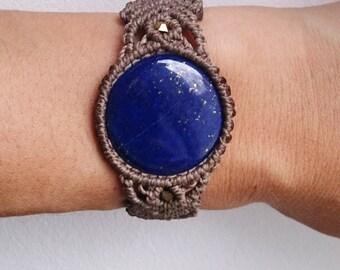 Lapis lazuli Macrame bracelet,macrame Bracelet,Boho,Gift for him,Gift for her,macrame jewelry,hippie jewelry,boho jewelry,bohemian jewelry