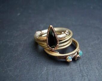 Organic, nature inspired, gold silver, earthy,engagement, wedding ring, boho, artisan ring, rustic luxury stacking ring - Tutti Frutti