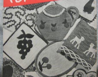 Vintage Crochet Pot Holders 1945 Pattern Book